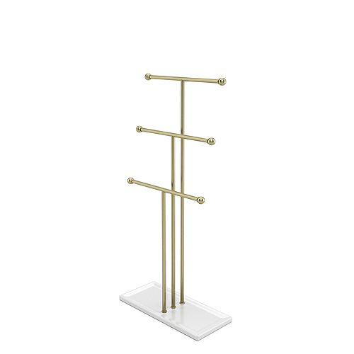 Trigem Jewelry Stand White/Brass