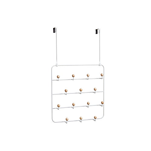 Estique Over The Door Multi Organizer White