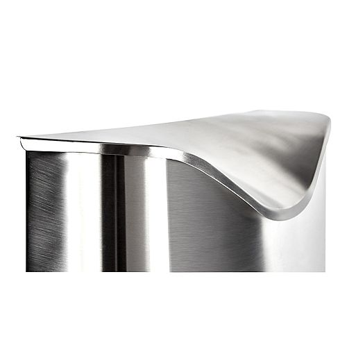Postino Mailbox Entryway Brushed Stainless Steel