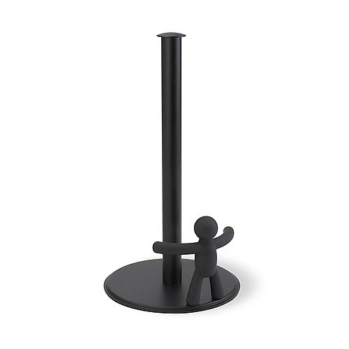 Buddy Paper Towel Holder. Porte Papier Absorbant Buddy. Coloris Noir. Dimension 17.8 X 31.8Cm