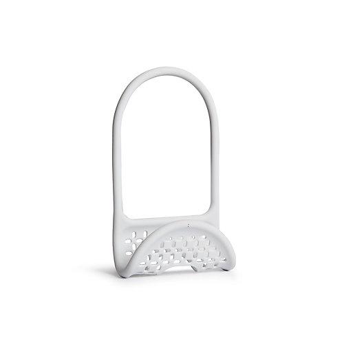 Sling Caddy. Porte-Éponge Sling. En Plastique Souple. Coloris Blanc. Dimension 26X11X0.8Cm.