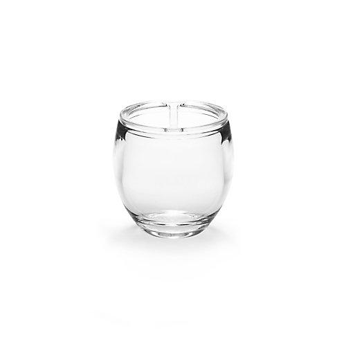 Droplet Toothbrush Holder. Porte Brosses À Dent Droplet, En Acrylique Transparent, 9X9.5Cm