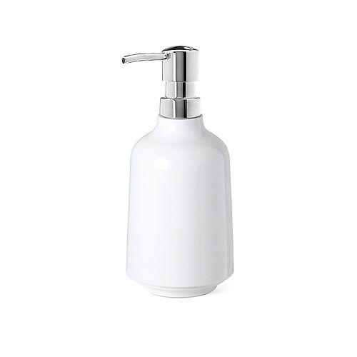 Step Soap Pump White