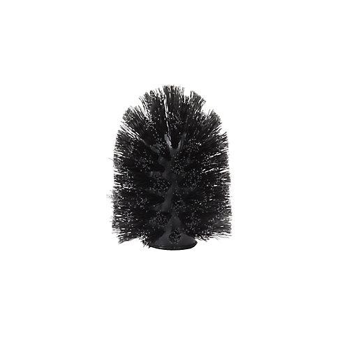 Toilet Brush Head. Tête De Brosse De Toilette De Remplacement. Noir 7X9.5Cm.
