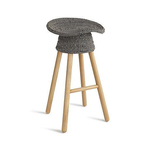 Coiled Counter Stool Grey
