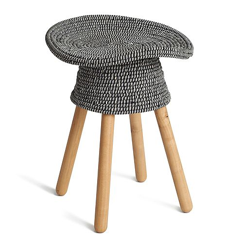 Coiled Stool Grey