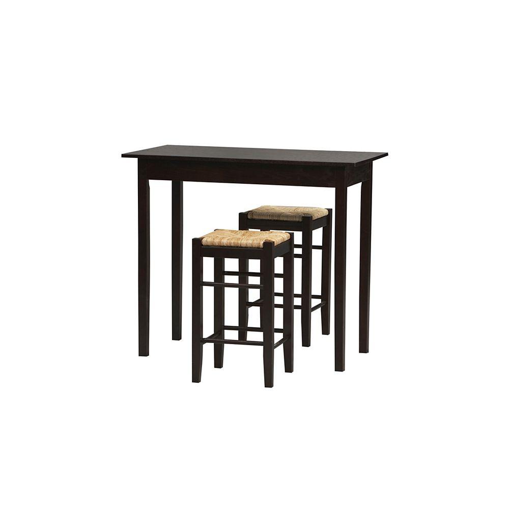 Linon Home Decor Three Piece Counter Set