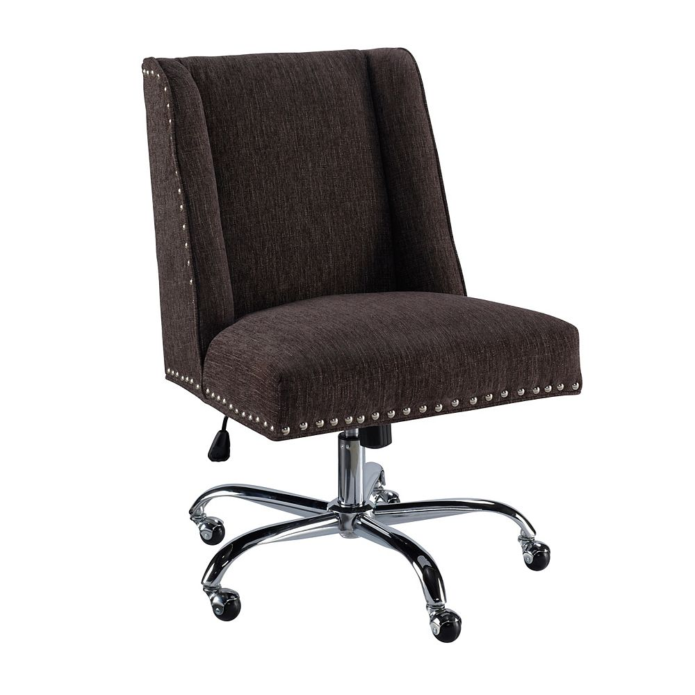 Linon Home Decor Office Chair Charcoal - Chrome Base