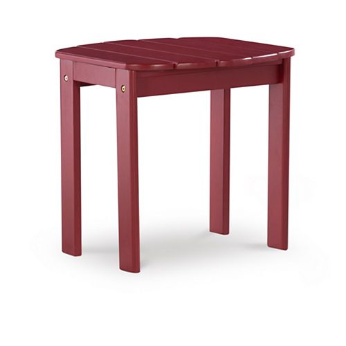 Red Adirondack End Table