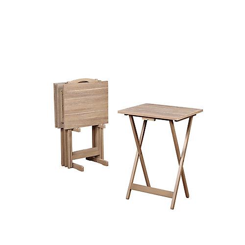 Grey Acacia Tray Table Set
