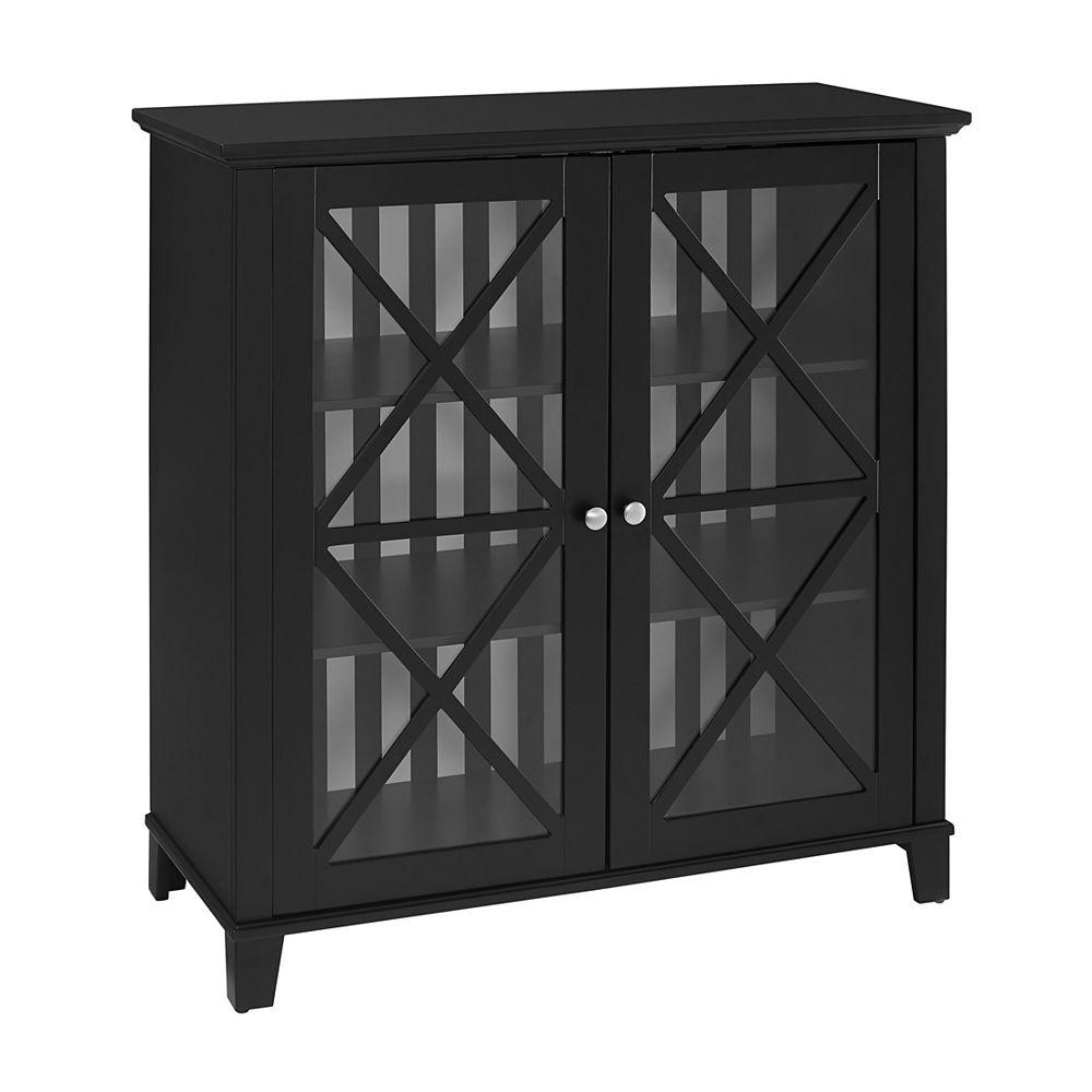 Linon Home Decor Stripe Large Cabinet