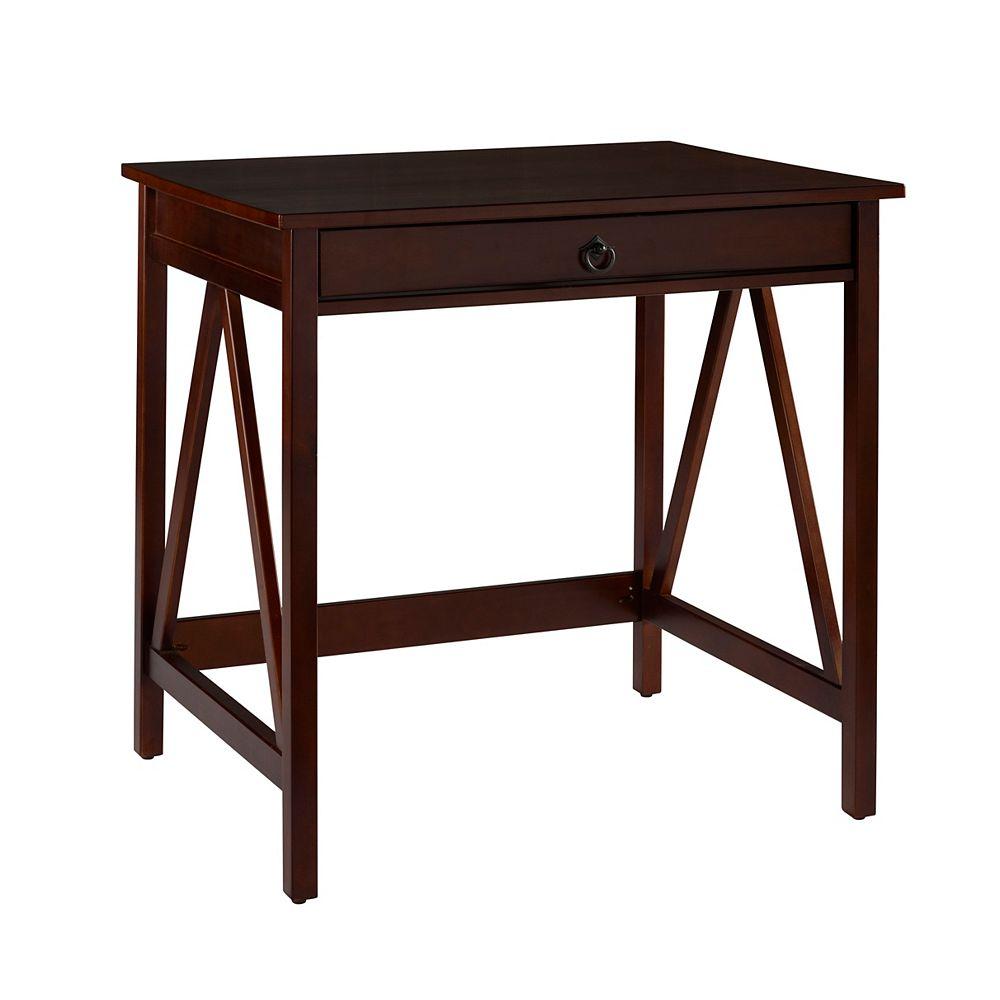 Linon Home Decor Antique Tobacco Laptop Desk