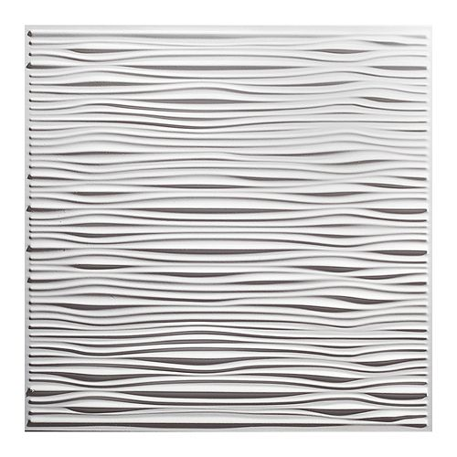 2 ft. x 2 ft. Drifts White Ceiling Panel Carton of 12