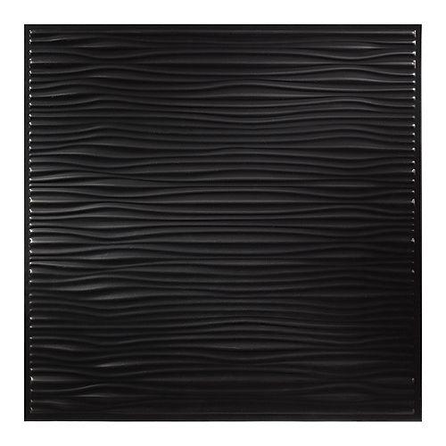 Genesis Tuile de plafond Drifts 2 pi x 2 pi Noir boite de 12