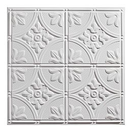 Tuile de plafond Antique 2 pi x 2 pi Blanc boite de 12