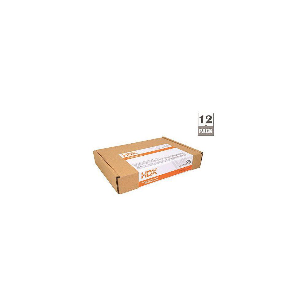 HDX Hdx Alkaline Battery, C Cell, 12 Pack