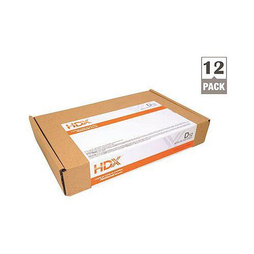 Hdx Alkaline Battery, D Cell, 12 Pack