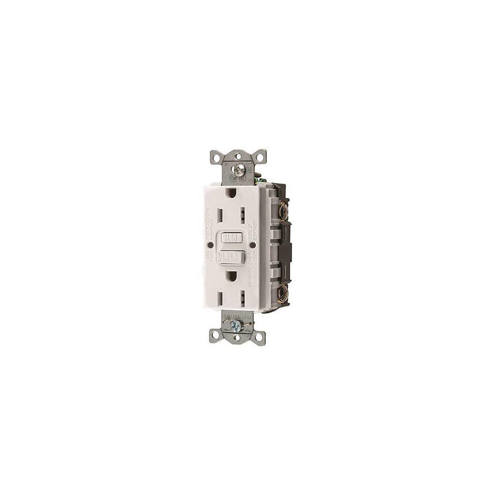 Hubbell Prise Ddft Standard Commerciale Autoguard D'hubbell Wiring 15 A,125 V, Nema 5-15r