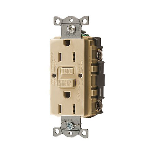 Prise Ddft Standard Commerciale Autoguard D'hubbell Wiring 15 A,125 V, Nema 5-15r