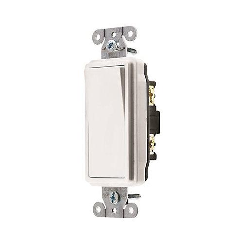 Interrupteur Unipolaire À Bascule «Decorator» Blanc, 15A, D'hubbell Wiring
