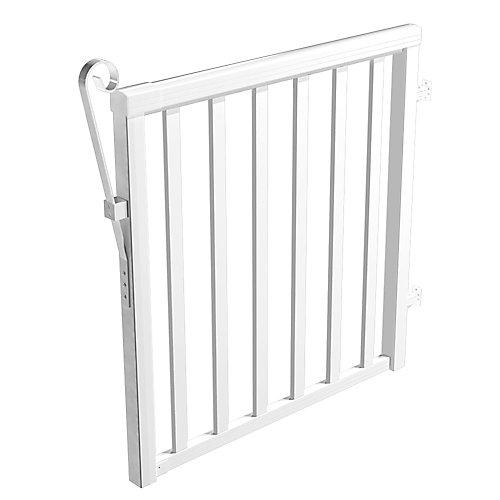 White Wide Picket Gate