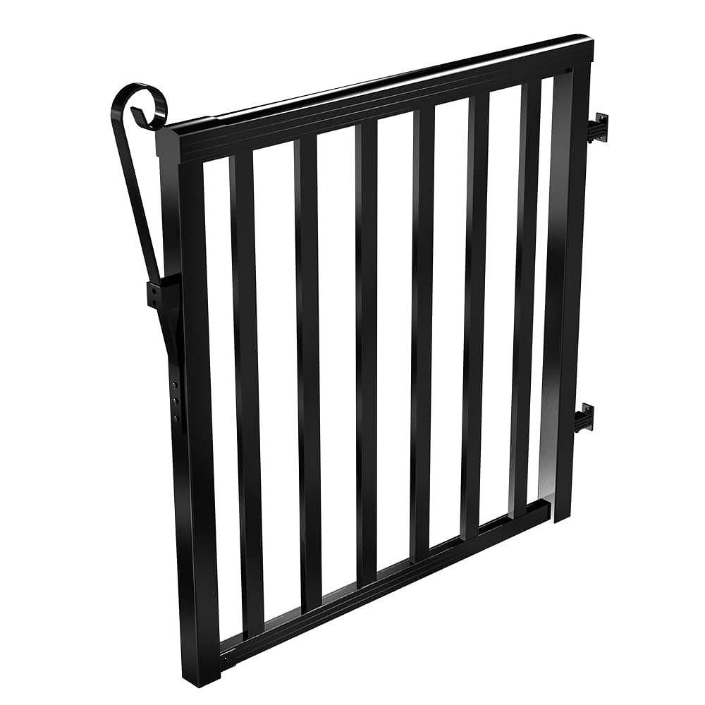 RailBlazers Black Wide Picket Gate