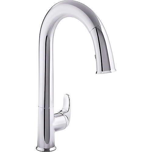 Sensate kitchen faucet with Konnect in Polished Chrome