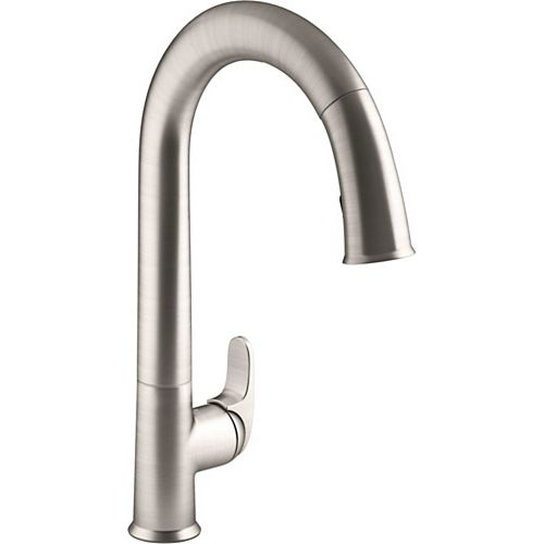 Sensate kitchen faucet with Konnect in Vibrant Stainless