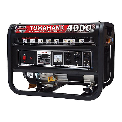 4000 Watt Gas Powered Recoil Start Portable Generator with 7 HP Engine