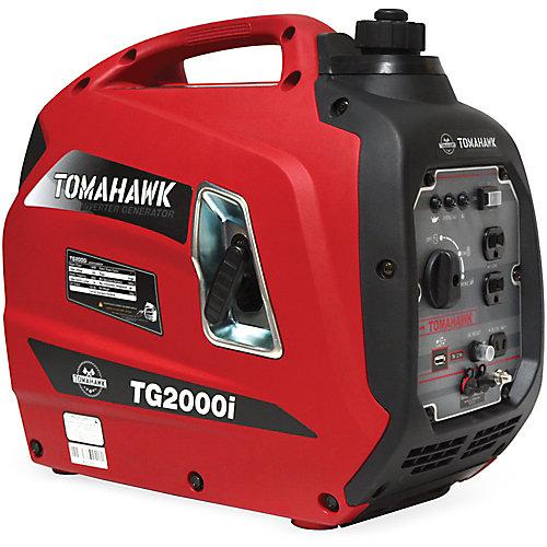 Tomahawk Génératrice À Onduleur Portative À Essence, 2000 Watts Au Démarrage, Conforme À La Norme EPA