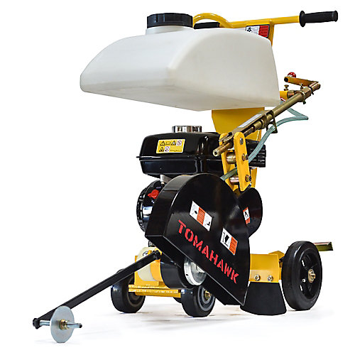 14 inch 6.5 HP Walk Behind Concrete Saw for Asphalt and Slab Sawing