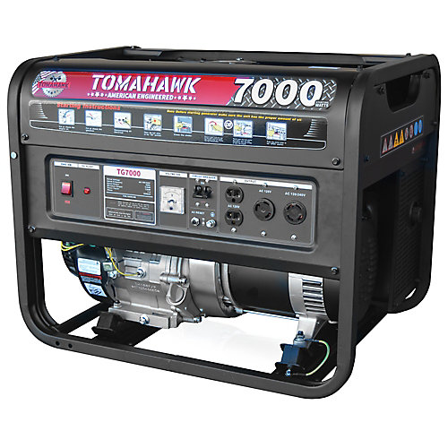 7000 Watt Gas Powered Recoil Start Portable Generator with 13 HP Engine