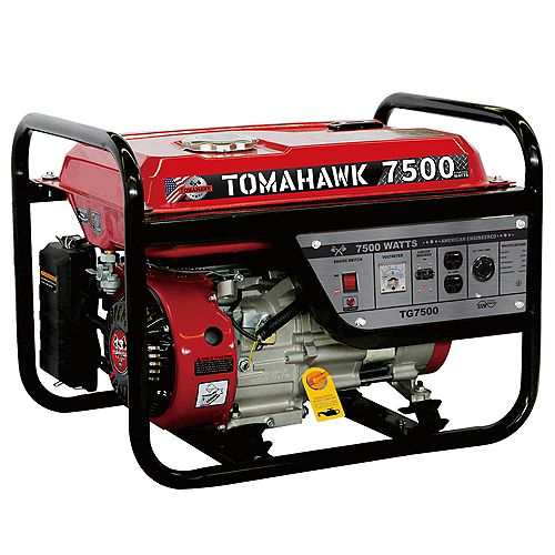 7500-Watt Gas Powered Recoil Start Portable Generator with 13 HP Engine