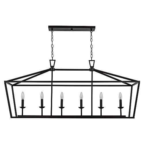 Lacey 6 Light, 60 Watt, Rubbed Oil Bronze finish Pendant