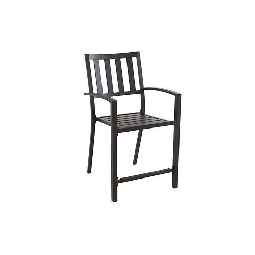 Chaise de jardin surélevée empilable avec lattes à agencer, noir