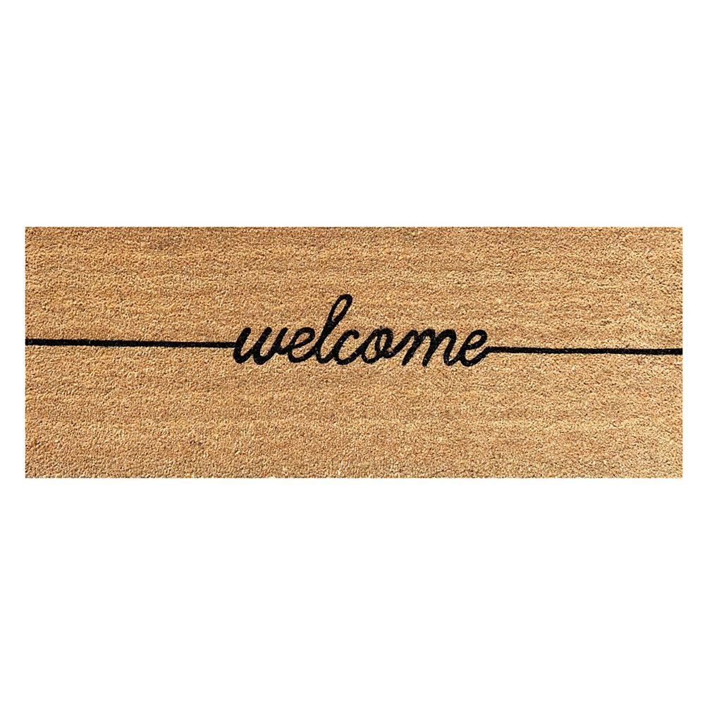 Viana Welcome Natural 18-inch x 48-inch Coir Doormat