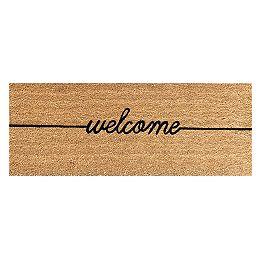 Welcome Natural 18-inch x 48-inch Coir Doormat
