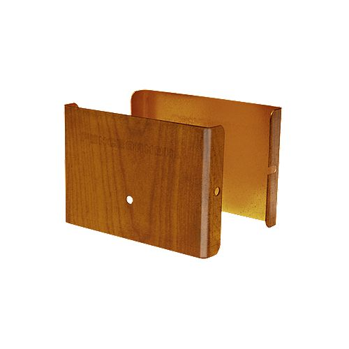 Fence Armor 4 inch. L x 3 inch. H x .5 inch. D Redwood Demi Fence Post Guard Protector for Wood or Vinyl posts.