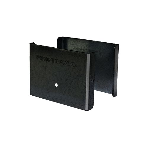Fence Armor 3.5 inch. L x 3 inch. H x .5 inch. D Black Demi Fence Post Guard Protector for posts commonly  4x4's.