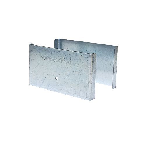 Fence Armor 5 inch. L x 3 inch. H x .5 inch. D GALV Steel Demi Fence Post Guard Protector for Wood or Vinyl posts.