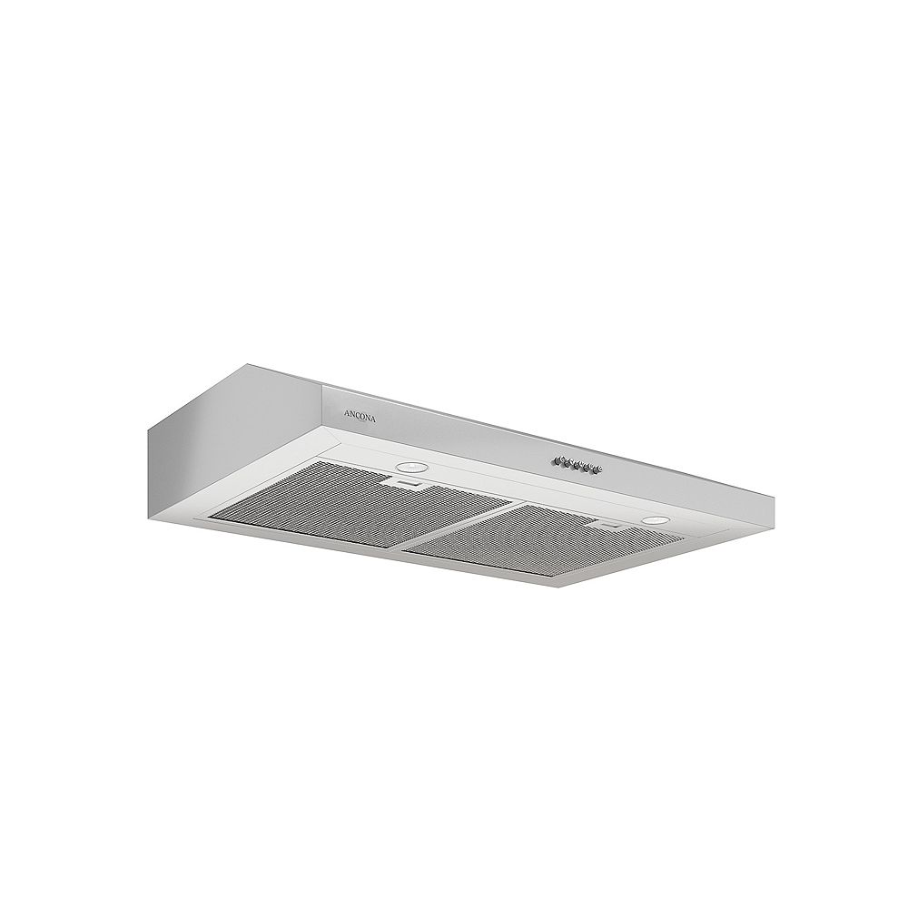 Ancona Slim SDR 30-inch 325 CFM Non-Vented Under-Cabinet Range Hood in Stainless Steel