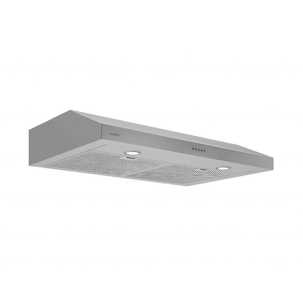 Ancona Slim S3D 30-inch 325 CFM Non-Vented Under Cabinet Range Hood in Stainless Steel