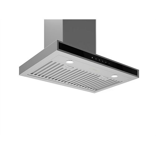 WRC630 30-inch Wall-Mounted Rectangular Range Hood in Stainless Steel with Night Light Feature