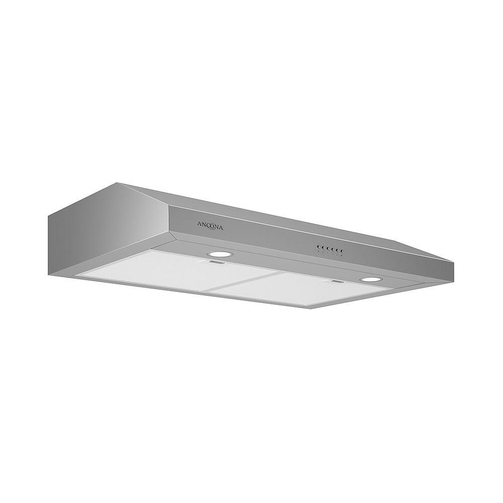 Ancona Slim EL530 30 inch Stainless Steel Under Cabinet Range Hood