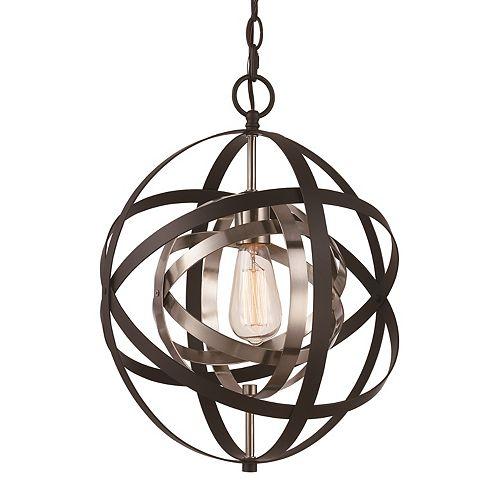 Monrovia, 60 watt, 1 -umière lanterne bronze huilé poncé pendante
