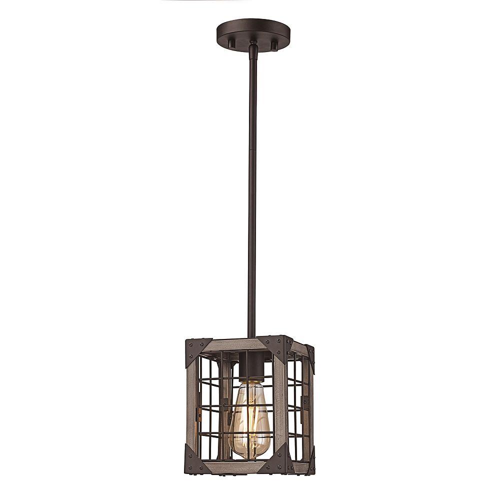 Bel Air Lighting 8 po H. 1- lumière lanterne bronze huilé poncé pendante