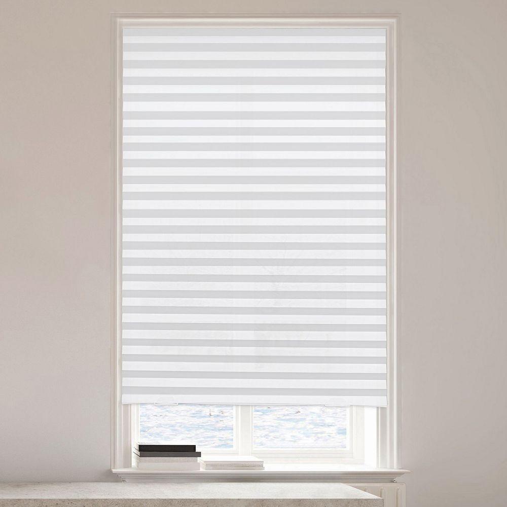 Lumi Store Plissée Temporaire en Vinyle Assombrissant 36 Po X 72 Po (Lxl) Gris (Paquet de 6)