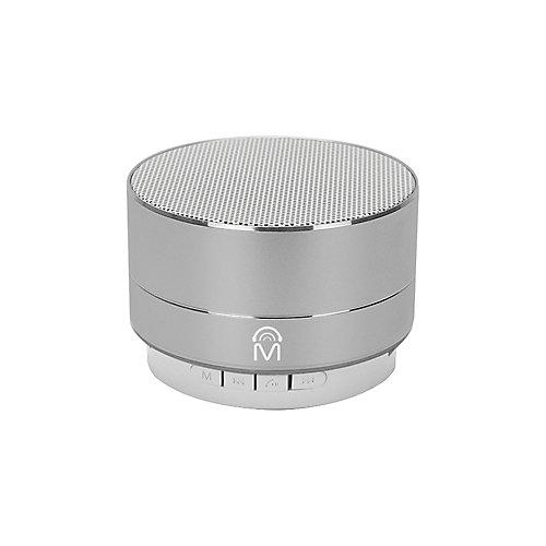 """Haut-parleur Bluetooth """"Urban"""" Portable en Aluminium avec Lumières DEL et Appel Mains Libres-Argent"""
