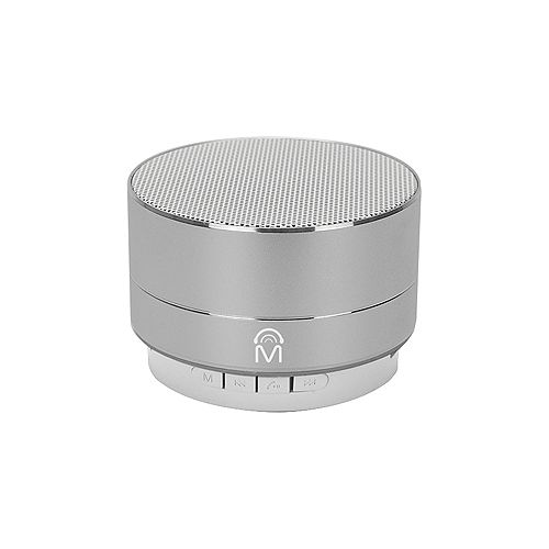 """Urban"" Portable Aluminum Bluetooth Speaker with LED Lights & Hands-free calling - Silver"