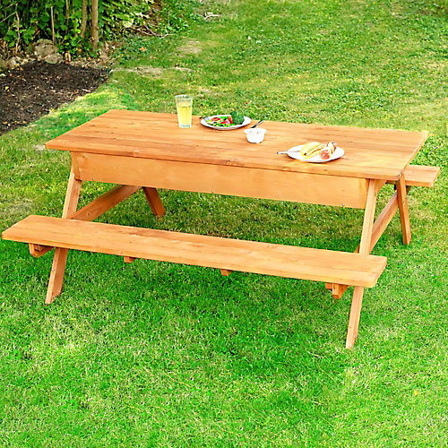 Picnic Table With Storage Compartment